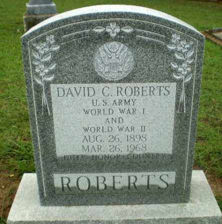 ROBERTS  (VETERAN 2 WARS), DAVID C. - Craighead County, Arkansas   DAVID C. ROBERTS  (VETERAN 2 WARS) - Arkansas Gravestone Photos
