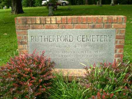 *RUTHERFORD CEMETERY SIGN,  - Craighead County, Arkansas |  *RUTHERFORD CEMETERY SIGN - Arkansas Gravestone Photos
