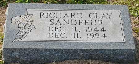 SANDEFUR, RICHARD CLAY - Craighead County, Arkansas | RICHARD CLAY SANDEFUR - Arkansas Gravestone Photos