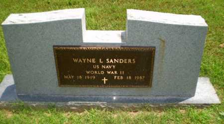 SANDERS  (VETERAN WWII), WAYNE L - Craighead County, Arkansas | WAYNE L SANDERS  (VETERAN WWII) - Arkansas Gravestone Photos