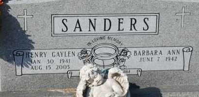 SANDERS, HENRY GAYLEN - Craighead County, Arkansas | HENRY GAYLEN SANDERS - Arkansas Gravestone Photos