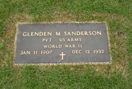 SANDERSON  (VETERAN WWII), GLENDEN M - Craighead County, Arkansas | GLENDEN M SANDERSON  (VETERAN WWII) - Arkansas Gravestone Photos