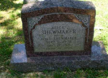 SHEWMAKER, ALICE - Craighead County, Arkansas | ALICE SHEWMAKER - Arkansas Gravestone Photos