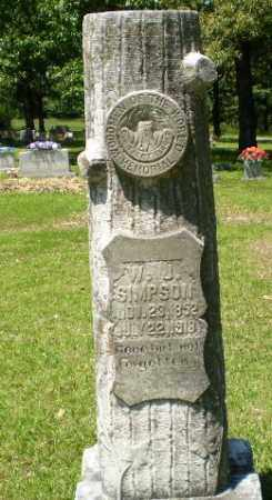 SIMPSON, W J - Craighead County, Arkansas   W J SIMPSON - Arkansas Gravestone Photos