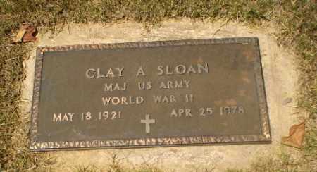 SLOAN  (VETERAN WWII), CLAY A - Craighead County, Arkansas   CLAY A SLOAN  (VETERAN WWII) - Arkansas Gravestone Photos