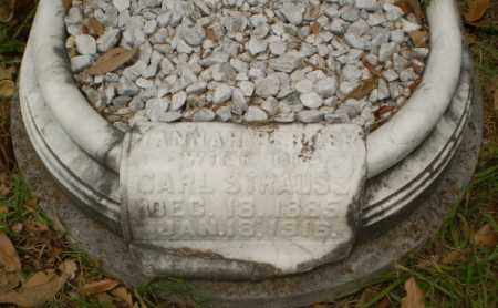 STRAUSS, HANNAH - Craighead County, Arkansas | HANNAH STRAUSS - Arkansas Gravestone Photos