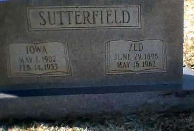 SUTTERFIELD, ZED - Craighead County, Arkansas | ZED SUTTERFIELD - Arkansas Gravestone Photos