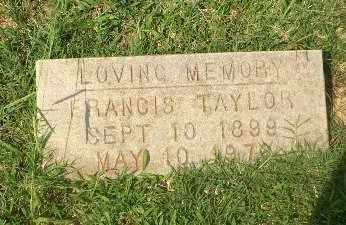 TAYLOR, FRANICS - Craighead County, Arkansas   FRANICS TAYLOR - Arkansas Gravestone Photos
