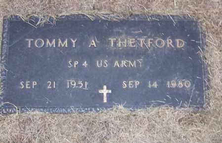 THETFORD (VETERAN), TOMMY A - Craighead County, Arkansas   TOMMY A THETFORD (VETERAN) - Arkansas Gravestone Photos