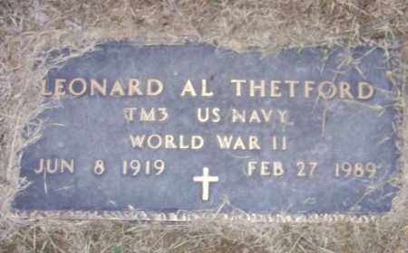 THETFORD (VETERAN WWII), LEONARD AL - Craighead County, Arkansas   LEONARD AL THETFORD (VETERAN WWII) - Arkansas Gravestone Photos