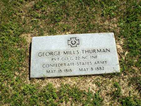 THURMAN  (VETERAN CSA), GEORGE MILLS - Craighead County, Arkansas | GEORGE MILLS THURMAN  (VETERAN CSA) - Arkansas Gravestone Photos
