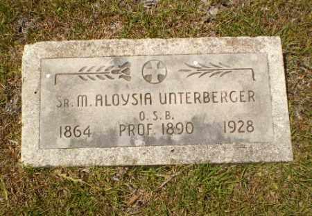 UNTERBERGER, SISTER M. ALOYSIA - Craighead County, Arkansas   SISTER M. ALOYSIA UNTERBERGER - Arkansas Gravestone Photos