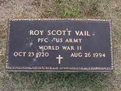 VAIL (VETERAN WWII), ROY SCOTT - Craighead County, Arkansas   ROY SCOTT VAIL (VETERAN WWII) - Arkansas Gravestone Photos