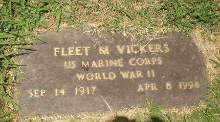 VICKERS (VETERAN WWII), FLEET M - Craighead County, Arkansas | FLEET M VICKERS (VETERAN WWII) - Arkansas Gravestone Photos