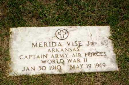 VISE, JR (VETERAN WWII), MERIDA - Craighead County, Arkansas | MERIDA VISE, JR (VETERAN WWII) - Arkansas Gravestone Photos