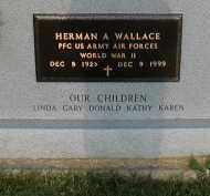WALLACE (VETERAN WWII), HERMAN A. - Craighead County, Arkansas | HERMAN A. WALLACE (VETERAN WWII) - Arkansas Gravestone Photos