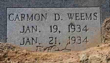 WEEMS, CARMON D - Craighead County, Arkansas | CARMON D WEEMS - Arkansas Gravestone Photos