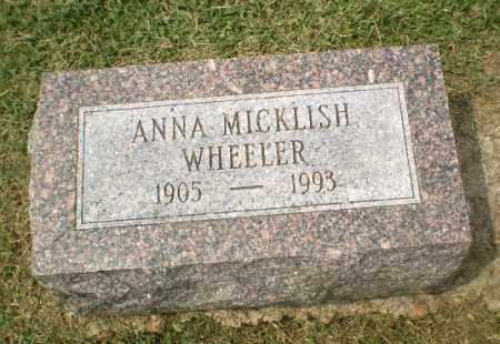 MICKLISH WHEELER, ANNA - Craighead County, Arkansas | ANNA MICKLISH WHEELER - Arkansas Gravestone Photos