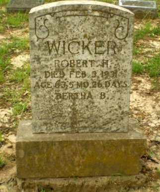WICKER, ROBERT R. - Craighead County, Arkansas | ROBERT R. WICKER - Arkansas Gravestone Photos