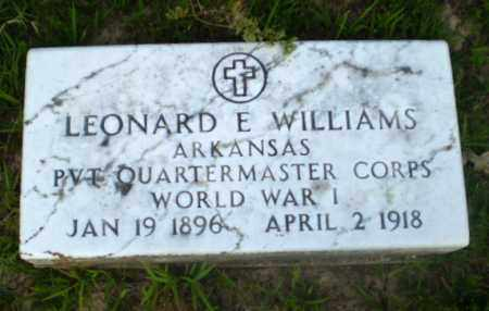 WILLIAMS  (VETERAN WWI), LEONARD E - Craighead County, Arkansas | LEONARD E WILLIAMS  (VETERAN WWI) - Arkansas Gravestone Photos