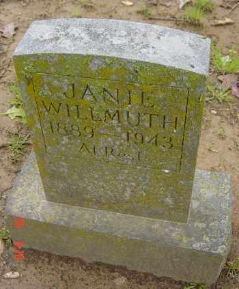 "WILLMUTH, SERRA JANE ""JANIE"" - Craighead County, Arkansas | SERRA JANE ""JANIE"" WILLMUTH - Arkansas Gravestone Photos"