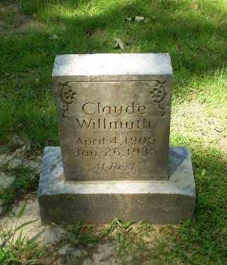 WILMUTH, CLAUDE - Craighead County, Arkansas   CLAUDE WILMUTH - Arkansas Gravestone Photos
