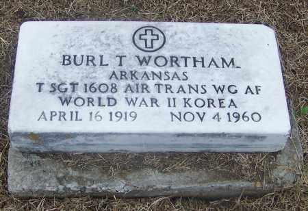 WORTHAM  (VETERAN 2 WARS), BURL T. - Craighead County, Arkansas   BURL T. WORTHAM  (VETERAN 2 WARS) - Arkansas Gravestone Photos