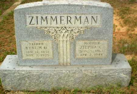 ZIMMERMAN, ZILPHA C - Craighead County, Arkansas | ZILPHA C ZIMMERMAN - Arkansas Gravestone Photos