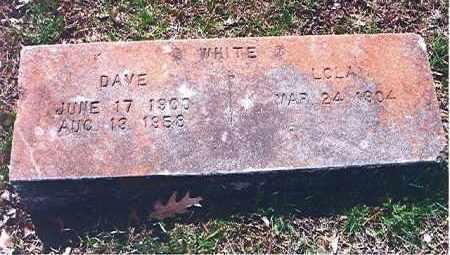 WHITE, WILLIAM DAVID - Craighead County, Arkansas   WILLIAM DAVID WHITE - Arkansas Gravestone Photos