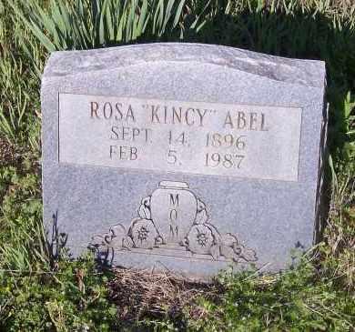 KINCY ABEL, ROSA - Crawford County, Arkansas | ROSA KINCY ABEL - Arkansas Gravestone Photos