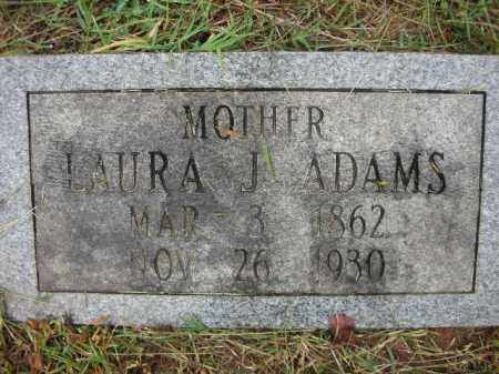 ADAMS, LAURA JANE - Crawford County, Arkansas | LAURA JANE ADAMS - Arkansas Gravestone Photos