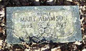 ADAMSON, MARY - Crawford County, Arkansas | MARY ADAMSON - Arkansas Gravestone Photos