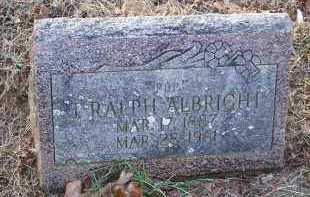 ALBRIGHT, J RALPH - Crawford County, Arkansas | J RALPH ALBRIGHT - Arkansas Gravestone Photos
