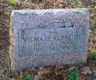 ALBRIGHT, WILMA J - Crawford County, Arkansas | WILMA J ALBRIGHT - Arkansas Gravestone Photos