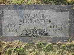 ALEXANDER, PAUL R. - Crawford County, Arkansas   PAUL R. ALEXANDER - Arkansas Gravestone Photos