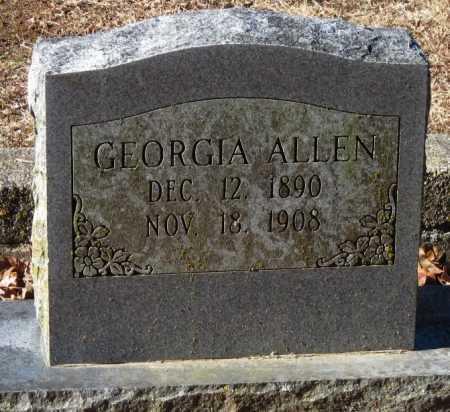 ALLEN, GEORGIA - Crawford County, Arkansas | GEORGIA ALLEN - Arkansas Gravestone Photos