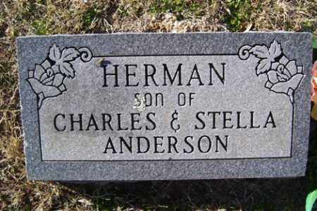 ANDERSON, HERMAN - Crawford County, Arkansas | HERMAN ANDERSON - Arkansas Gravestone Photos