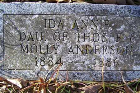 ANDERSON, IDA ANN - Crawford County, Arkansas   IDA ANN ANDERSON - Arkansas Gravestone Photos