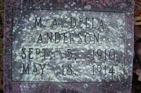 ANDERSON, M A DELLA - Crawford County, Arkansas | M A DELLA ANDERSON - Arkansas Gravestone Photos