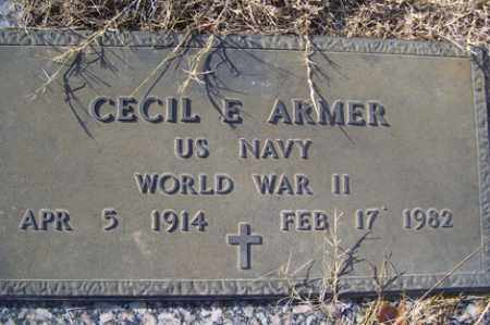 ARMER (VETERAN WWII), CECIL E - Crawford County, Arkansas   CECIL E ARMER (VETERAN WWII) - Arkansas Gravestone Photos