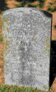 BAILEY (VETERAN WWI), HARRY HINER - Crawford County, Arkansas | HARRY HINER BAILEY (VETERAN WWI) - Arkansas Gravestone Photos