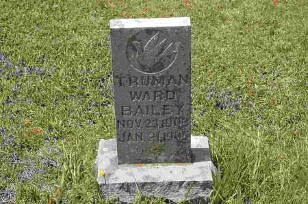 BAILEY, TRUMAN WARD - Crawford County, Arkansas   TRUMAN WARD BAILEY - Arkansas Gravestone Photos