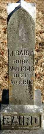 BAIRD, J - Crawford County, Arkansas   J BAIRD - Arkansas Gravestone Photos