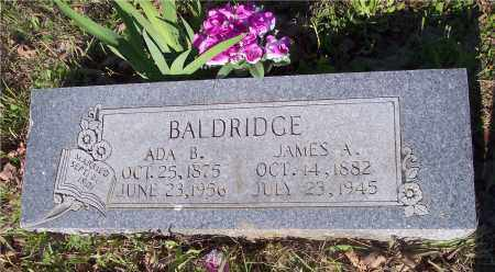 BALDRIDGE, JAMES A - Crawford County, Arkansas | JAMES A BALDRIDGE - Arkansas Gravestone Photos