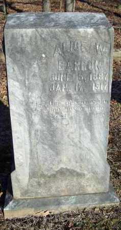 BARRON, ALICE W - Crawford County, Arkansas | ALICE W BARRON - Arkansas Gravestone Photos