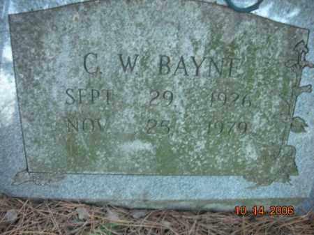 BAYNE, C.W. - Crawford County, Arkansas | C.W. BAYNE - Arkansas Gravestone Photos