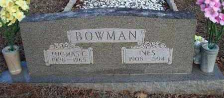 BOWMAN, INES - Crawford County, Arkansas | INES BOWMAN - Arkansas Gravestone Photos