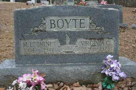 BOYTE, VIRGINIA - Crawford County, Arkansas | VIRGINIA BOYTE - Arkansas Gravestone Photos