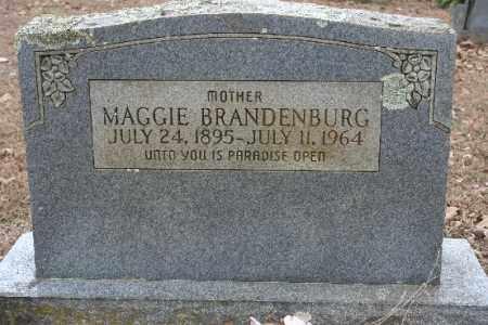 BRANDENBURG, MAGGIE - Crawford County, Arkansas | MAGGIE BRANDENBURG - Arkansas Gravestone Photos
