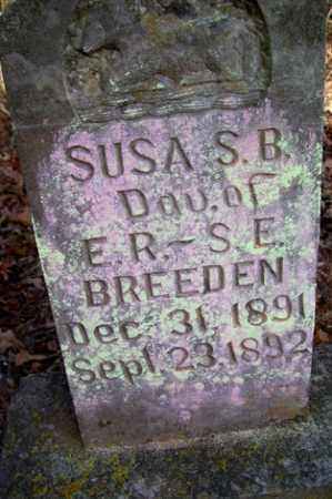 BREEDEN, SUSA S B - Crawford County, Arkansas   SUSA S B BREEDEN - Arkansas Gravestone Photos